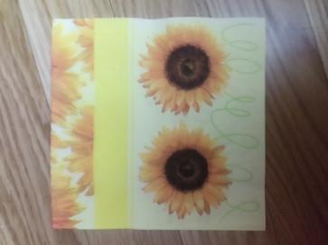 papirnate serviete 33x33 cm, 3-slojne, sončnica, 1 kos