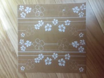 papirnate serviete 33x33 cm, 2-slojne, rjave, 1 kos