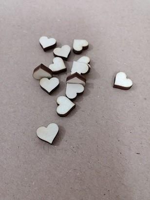 lesena kapljica - srček 20 mm, naravna, 1 kos