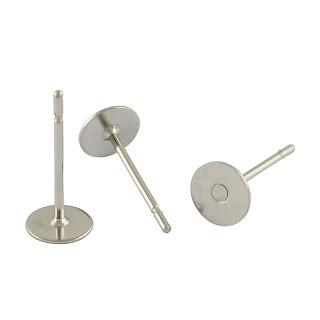 osnova za uhan 12x8x0.7mm, nerjaveče jeklo, velikost ploščice: 8 mm, 10 kos