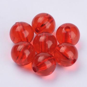 plastične perle, okrogle 10x9,5 mm, red, 50 gr