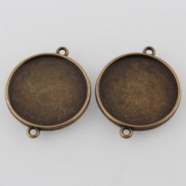 vmesnik, osnova za obesek-medaljon,34.5x28x3 mm, kapljica 25mm, antik, brez niklja, 1 kos