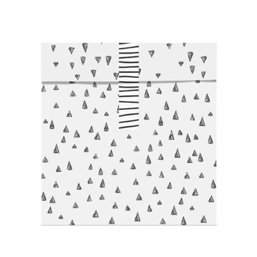 papirnata vrečka, 13x14 cm, črno-bela z nalepko, 1 kos