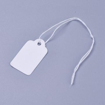 kartonček za nakit (za ceno) 23x13 mm, bele b., 1 kos