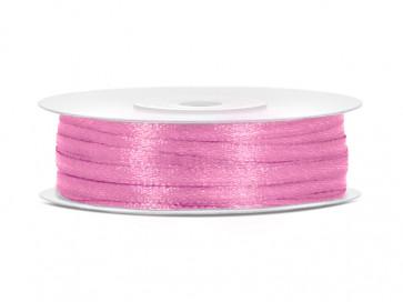 satenast trak, roza, širina: 3 mm, dolžina: 50 m, 1 kos