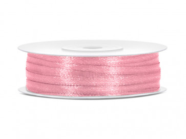 satenast trak, sv. roza, širina: 3 mm, dolžina: 50 m, 1 kos