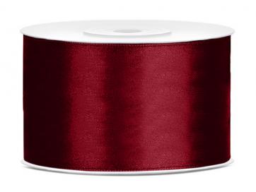 satenast trak, temno rdeč, širina: 38 mm, dolžina: 25 m, 1 kos
