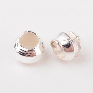 štoparji 2 mm, srebrne barve, velikost luknje: 1,2 mm, 10 g