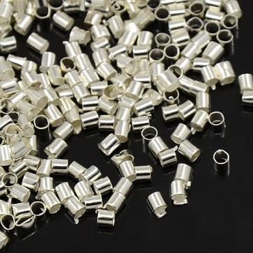 štoparji 2x2 mm, srebrne barve, velikost luknje: 1.5 mm, 10 g/cca 900 kos