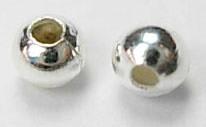 štoparji 2 mm, srebrne b., velikost luknje: 1 mm, 10 g