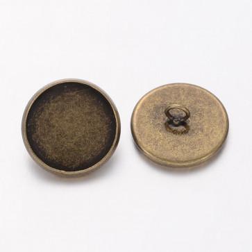 osnova za obesek - medaljon,16 X 2 mm, kapljica 14 mm, našitek, antik, brez niklja, 1 kos