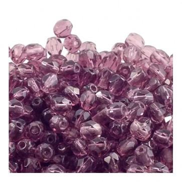 perle - češko steklo 6 mm, amethyst, 10 kos
