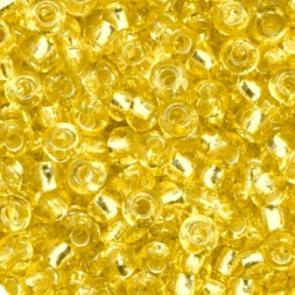 EFCO Steklene perle 2,6 mm, rumene, prosojne s posrebreno luknjico, 17 g