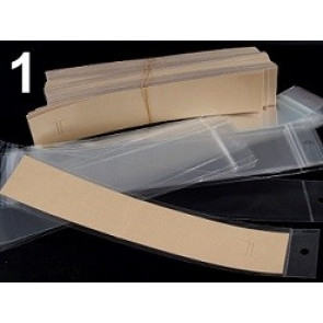 kartonček za zapestnico 4x22 cm, beige b., 1 kos