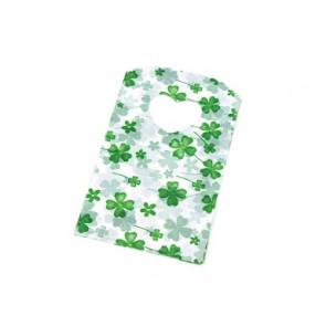 vrečka pvc 8x14 cm, zelena, 10 kos