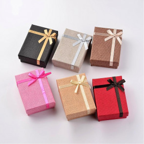 škatla za nakit iz kartona, 6,7x9,3x3,1 cm, naravna-sv. rjava b., 1 kos