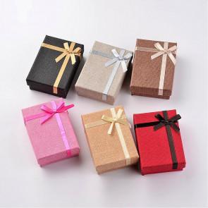 škatla za nakit iz kartona, 6,7x9,3x3,1 cm, rdeča b., 1 kos