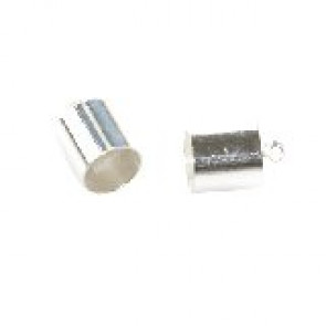 kovinski zaključek 5,5 mm, srebrne b., 1 kos