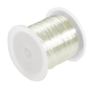elastična vrvica 0,6 mm, bela, 10 m