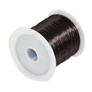 elastična vrvica 0,6 mm, črna, 10 m