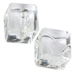 plastične perle - kocka 12x12 mm, prozorne, 50 g