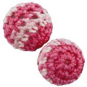 volnene-plastične perle, okrogle 16 mm, roza mix, 1 kos