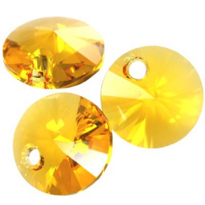 obesek Swarovski 6 mm, sunflower, 1 kos
