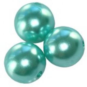 plastične perle okrogle, 8 mm, aquamarine, 50 gr