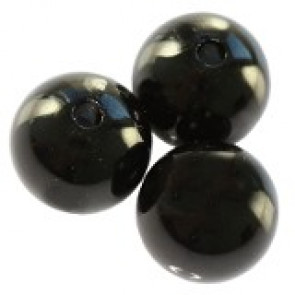 plastične perle okrogle, 8 mm, black, 50 gr