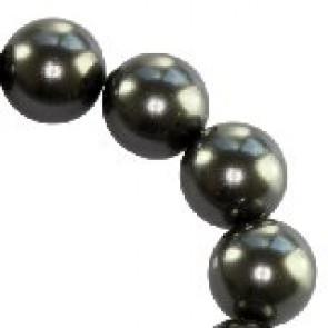 perle Swarovski okrogle, 6 mm, črne (black), 1 kos