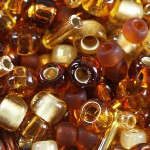 toho perle 1-1,6 mm, kohaku amber mix, 25 g