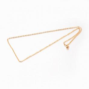 osnova za ogrlico 45 cm, nerjaveče jeklo 304, debelina: 2.5x2x0.2 mm, zlata b., 1 kos