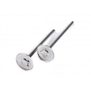osnova za uhan 4 mm, platinaste b., 10 kos