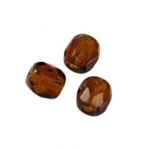 perle - češko steklo 3 mm, rjave, 10 kos