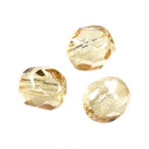 perle - češko steklo 4 mm, light cashmere ab, 10 kos