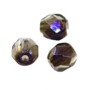 perle - češko steklo 4 mm, gray blue shade, 10 kos