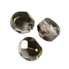 perle - češko steklo 4 mm, gray bronze shade, 10 kos