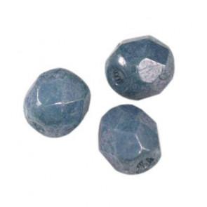 perle - češko steklo 4 mm, denim blue luster, 10 kos