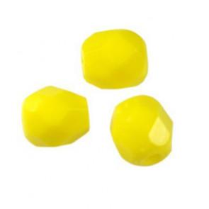 perle - češko steklo 4 mm, rumene, 10 kos