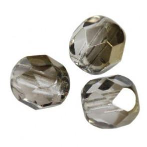 perle - češko steklo 6 mm, gray bronze shade, 10 kos