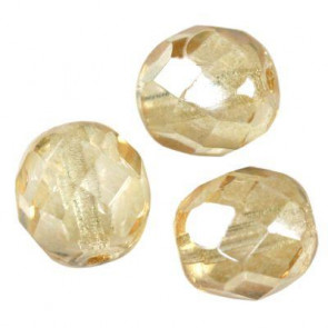 perle - češko steklo 8 mm, light cashmere ab, 10 kos