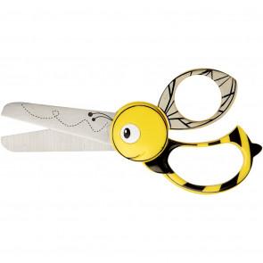 Fiskars otroške škarje 13 cm, čebelica, za levičarje in desničarje, 1 kos