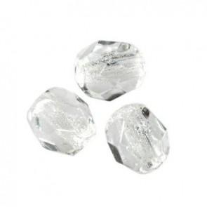 perle - češko steklo 4 mm, crystal, 10 kos