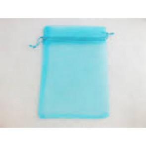 organza vrečke 13x18 cm, turkizne, 1 kos