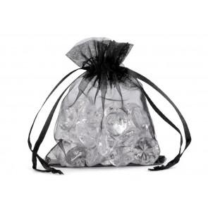 organza vrečke 9x11 cm, črne, 1 kos