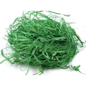 umetno polnilo - lesna slama, zelene barve, 1 zavoj - cca 15 g