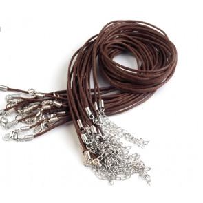 bombažna osnova za ogrlico 45 cm, rjava, 1 kos