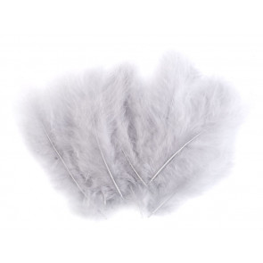 perje 10-17 cm, siva b., 1 kos