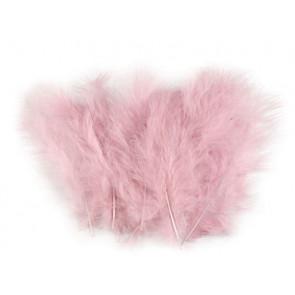 perje 9-18 cm, barva vintage roza, 1 kos