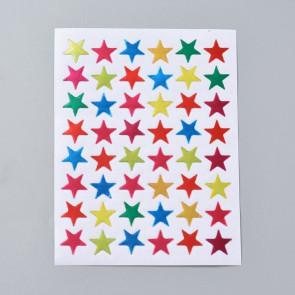 samolepilne nalepke, motiv zvezde, barva mix, 1.3x1.3 cm, 1 pola (48 nalepk)